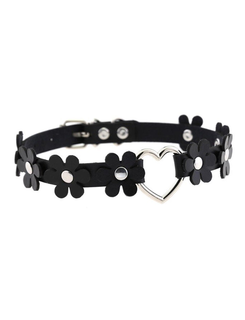 SECRET GARDEN CHOKER - BLACK