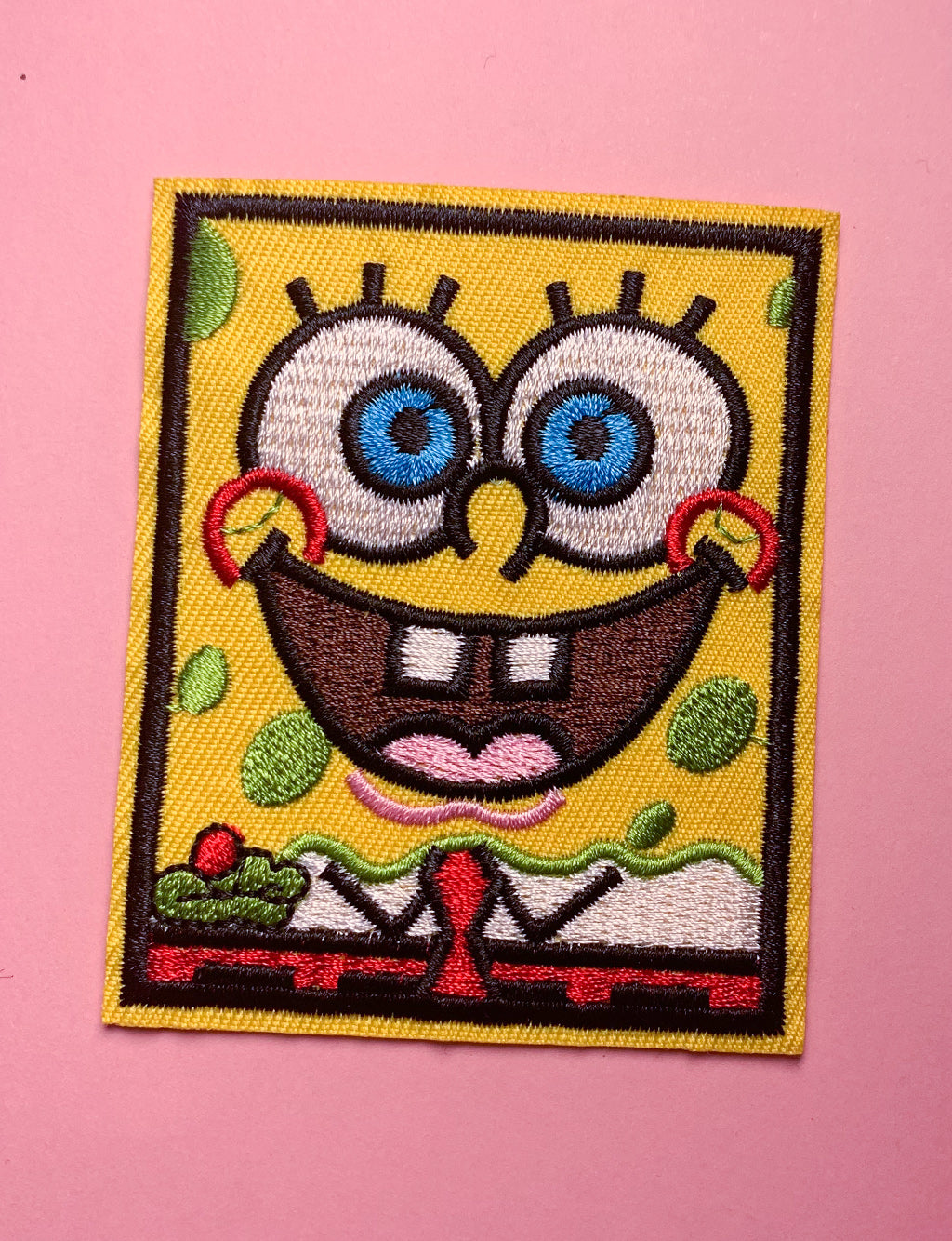 SPONGE BOB SQUAREPANTS SQUARE PATCH