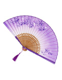 WOOD PURPLE LACE DOOF FAN