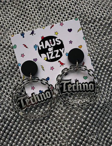 *EXCLUSIVE* TECHNO EARRINGS - SMALL
