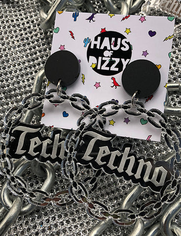 *EXCLUSIVE* TECHNO QUEEN EARRINGS - LARGE