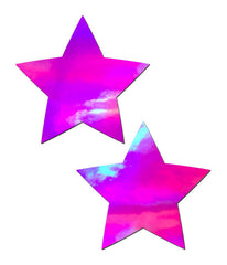 PINK HOLOGRAM STAR NIPPLE PASTIES
