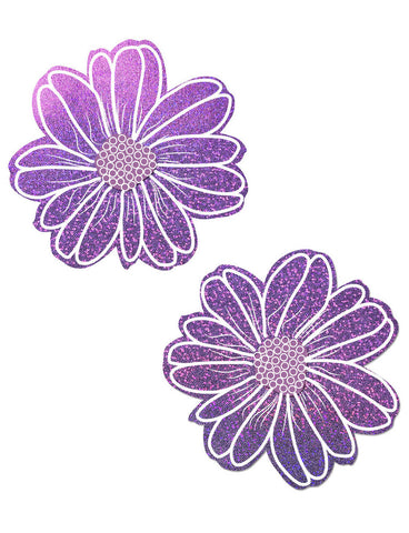 WILD FLOWER NIPPLE PASTIES - LILAC PURPLE