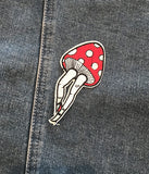 WALKING MUSHROOM IRON ON PATCH