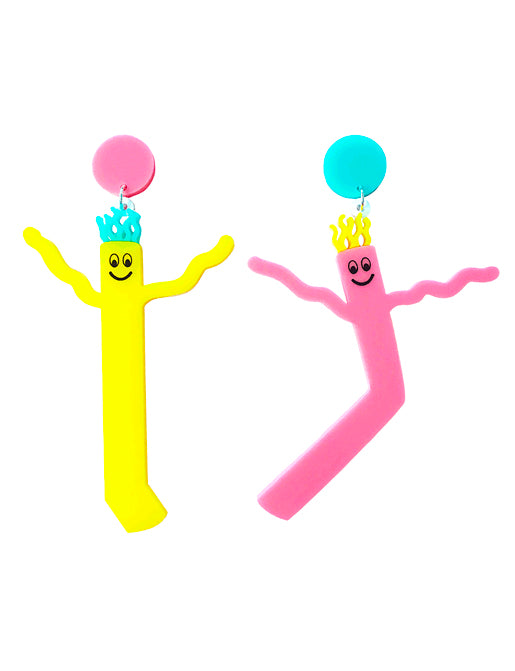 INFLATABLE WAVING ARM THING EARRINGS