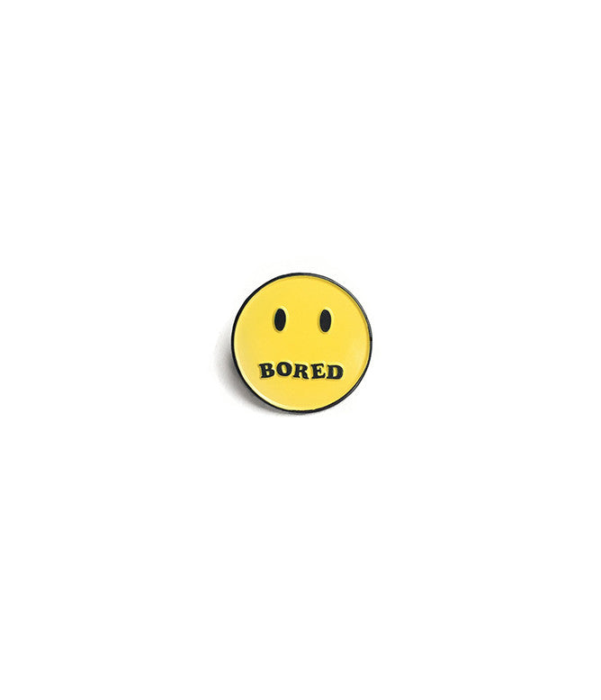 BORED SMILEY LAPEL PIN