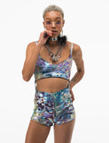 *EXCLUSIVE* ALICIA OIL SLICK ROMPER
