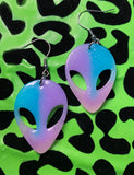 ALIEN EARRINGS - PINK/BLUE