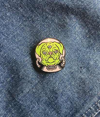 ALIEN PUP LAPEL PIN