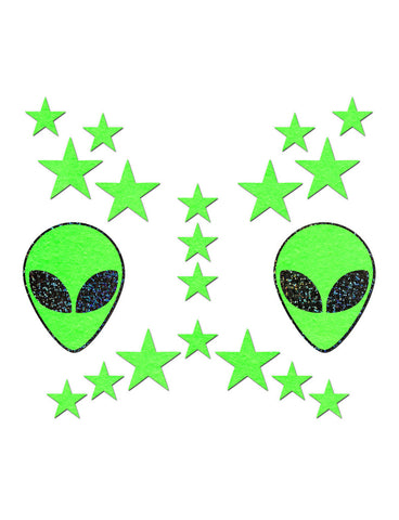 NIPPLE PASTIES & BODY STICKERS SET - ALIEN