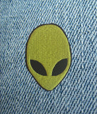 ALIEN HEAD IRON ON PATCH