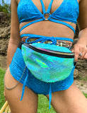 DISCO SEQUIN BUMBAG - AQUA