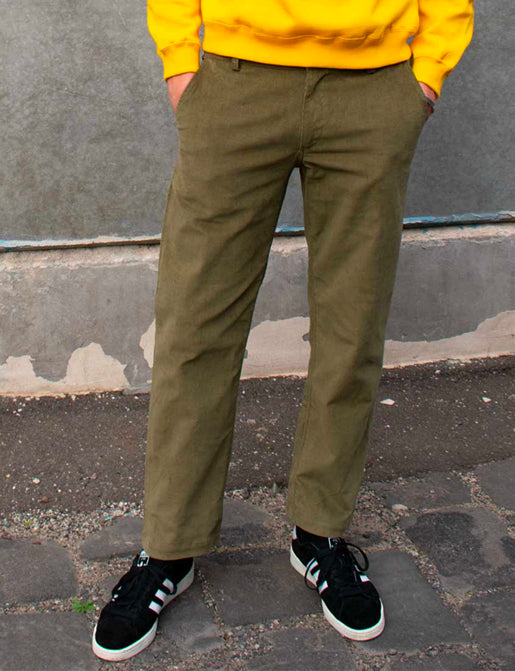 STRAIGHT CORD PANT - ARMY