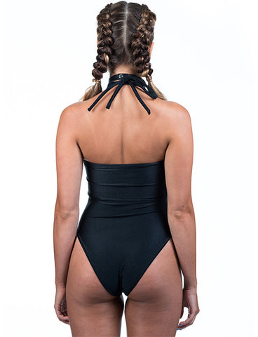 SHENEL LEOTARD - BLACK