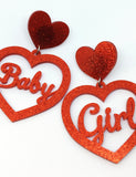 BABY GIRL EARRINGS - RED