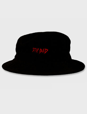 STAY BAD CORDUROY BUCKET HAT - BLACK