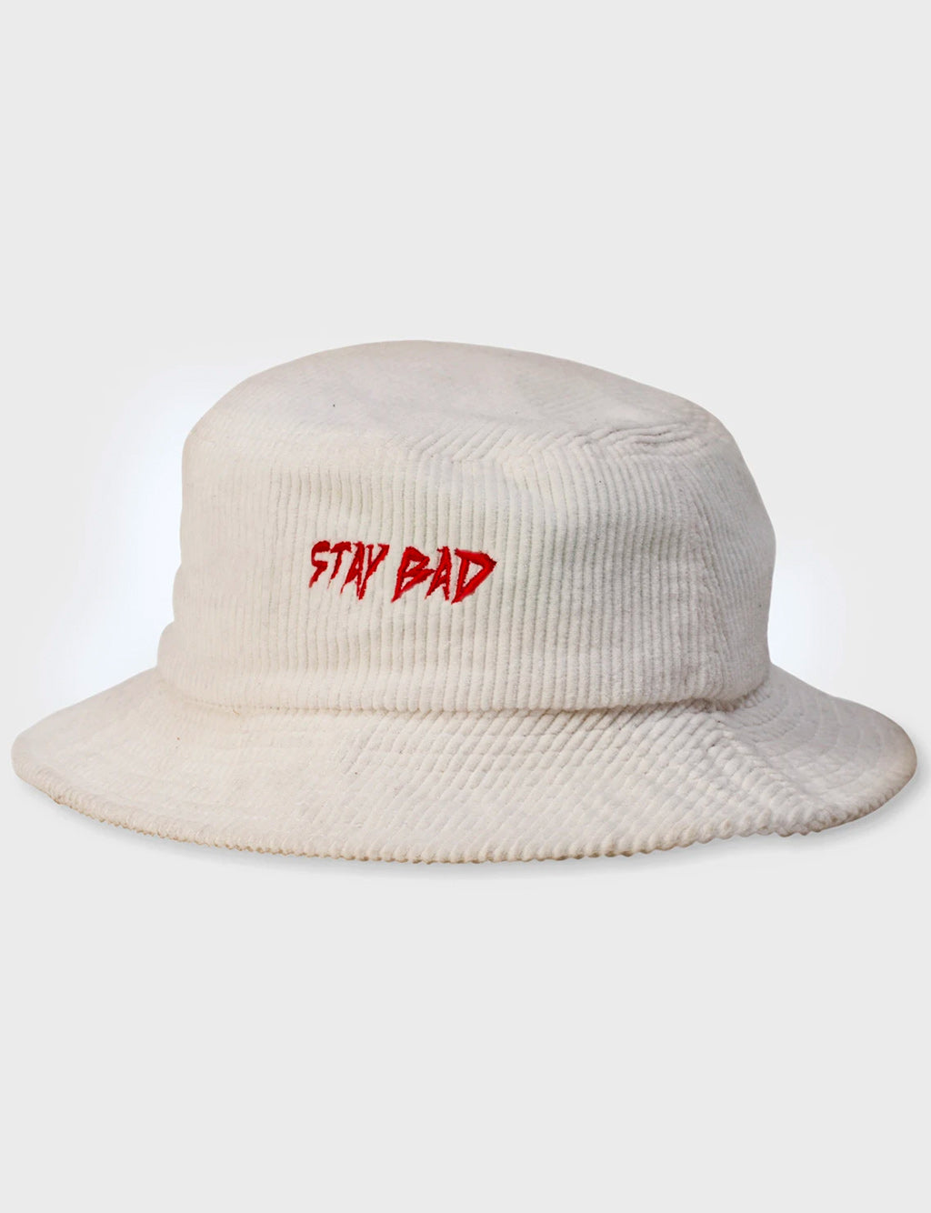 STAY BAD CORDUROY BUCKET HAT - OFF WHITE