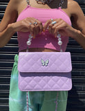 LADY BUTTERFLY HANDBAG - LILAC