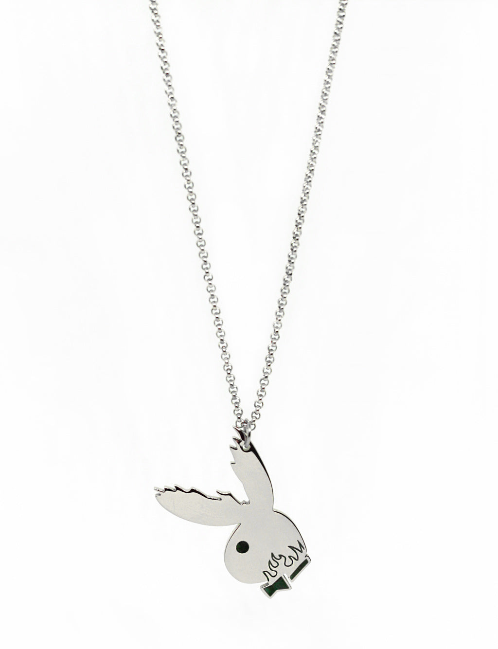 BADASS BUNNY NECKLACE - SILVER