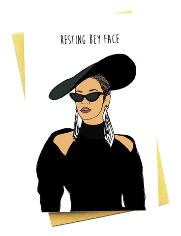 RESTING BEY FACE GREETING CARD