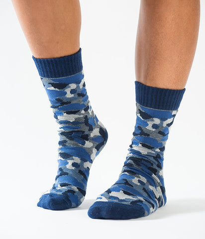 BLUE CAMO KNITTED SOCKS