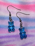 MINI GUMMI BEAR EARRINGS - BLUE