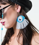 INTO MY EYEBALL EARRINGS - BLUE & SNAKE