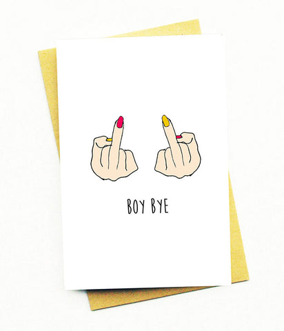BOY BYE GREETING CARD