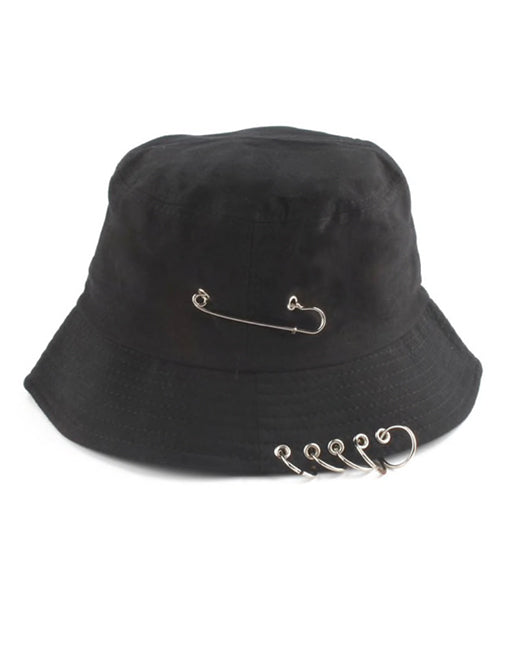 WASTING TIME BUCKET HAT - BLACK