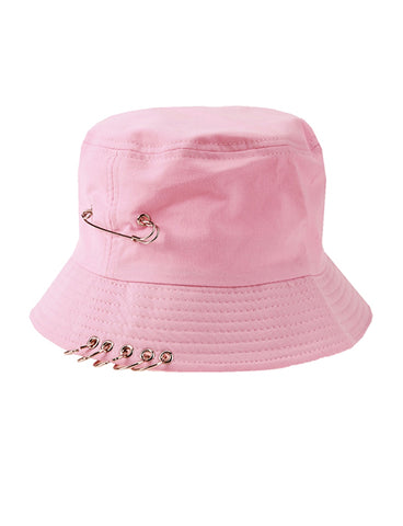 WASTING TIME BUCKET HAT - PINK