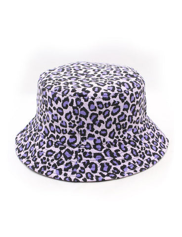 CONFIDENCE BUCKET HAT - LEOPARD - PURPLE