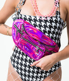 ILLUMINATE HOLOGRAM BUM BAG - PINK