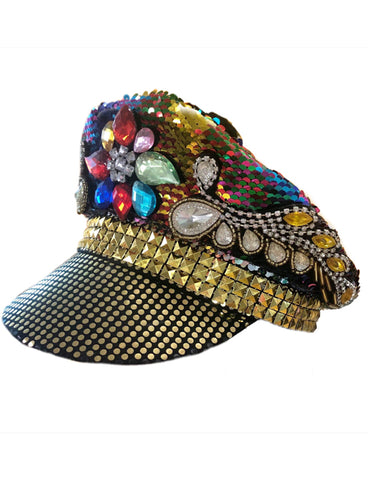 BURNER SEQUIN FESTIVAL HAT - RAINBOW