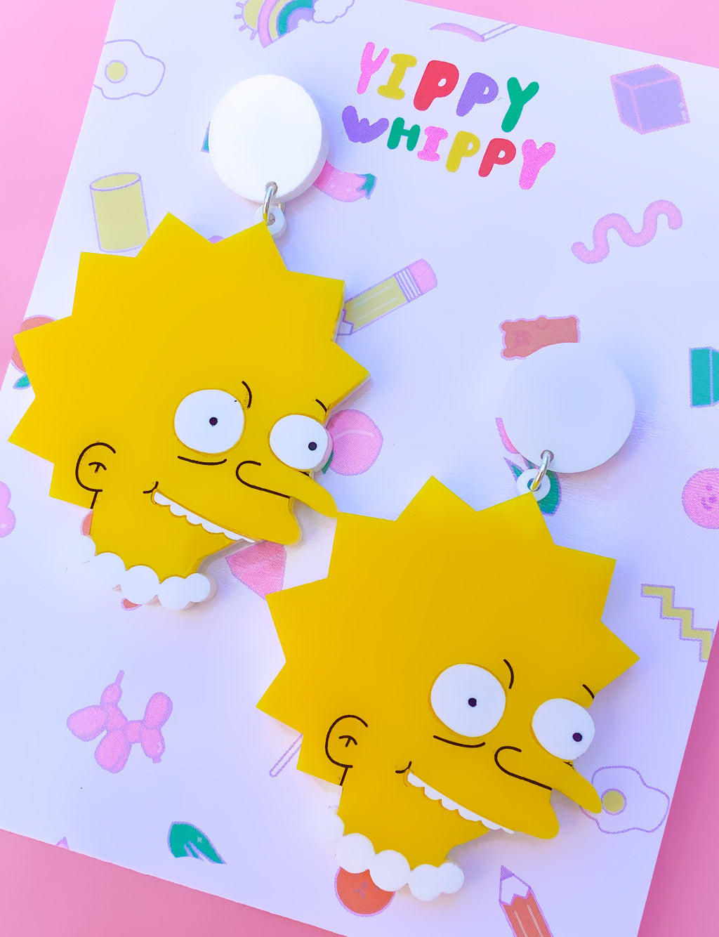 MR BURNS LISA EARRINGS