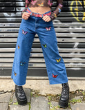 BUTTERFLY DENIM SKATER JEANS