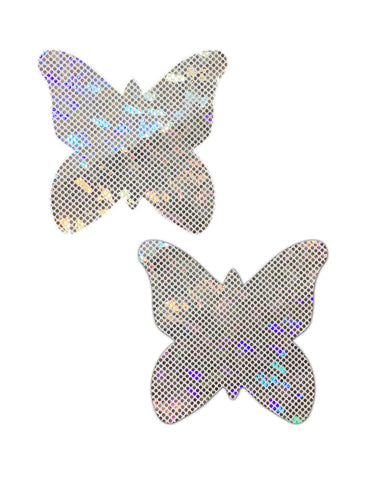 BUTTERFLY NIPPLE PASTIES - HOLO DISCO BALL