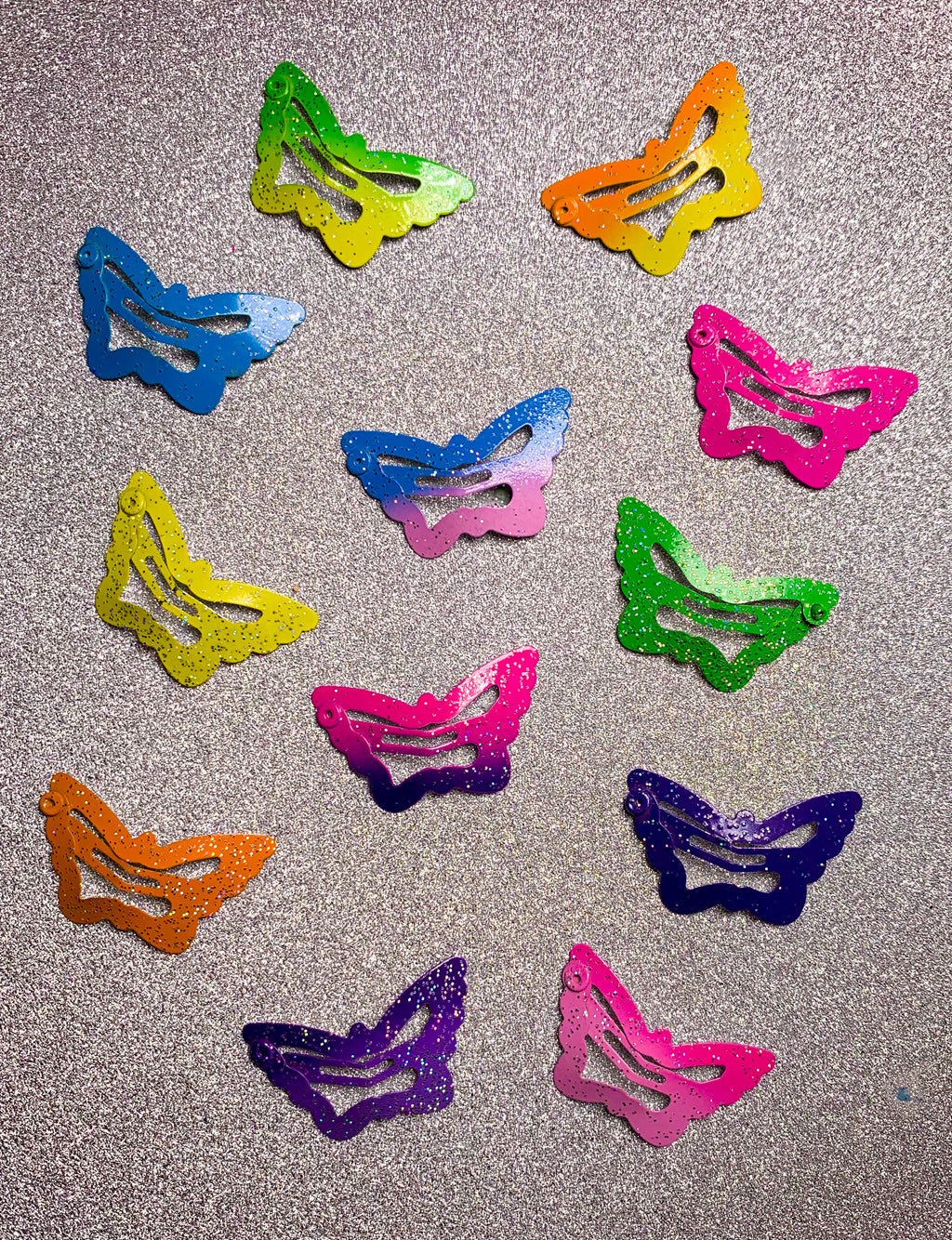 BUTTERFLY FLAT HAIR CLIPS