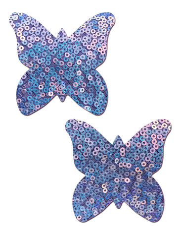 BUTTERFLY NIPPLE PASTIES - LAVENDER SEQUIN