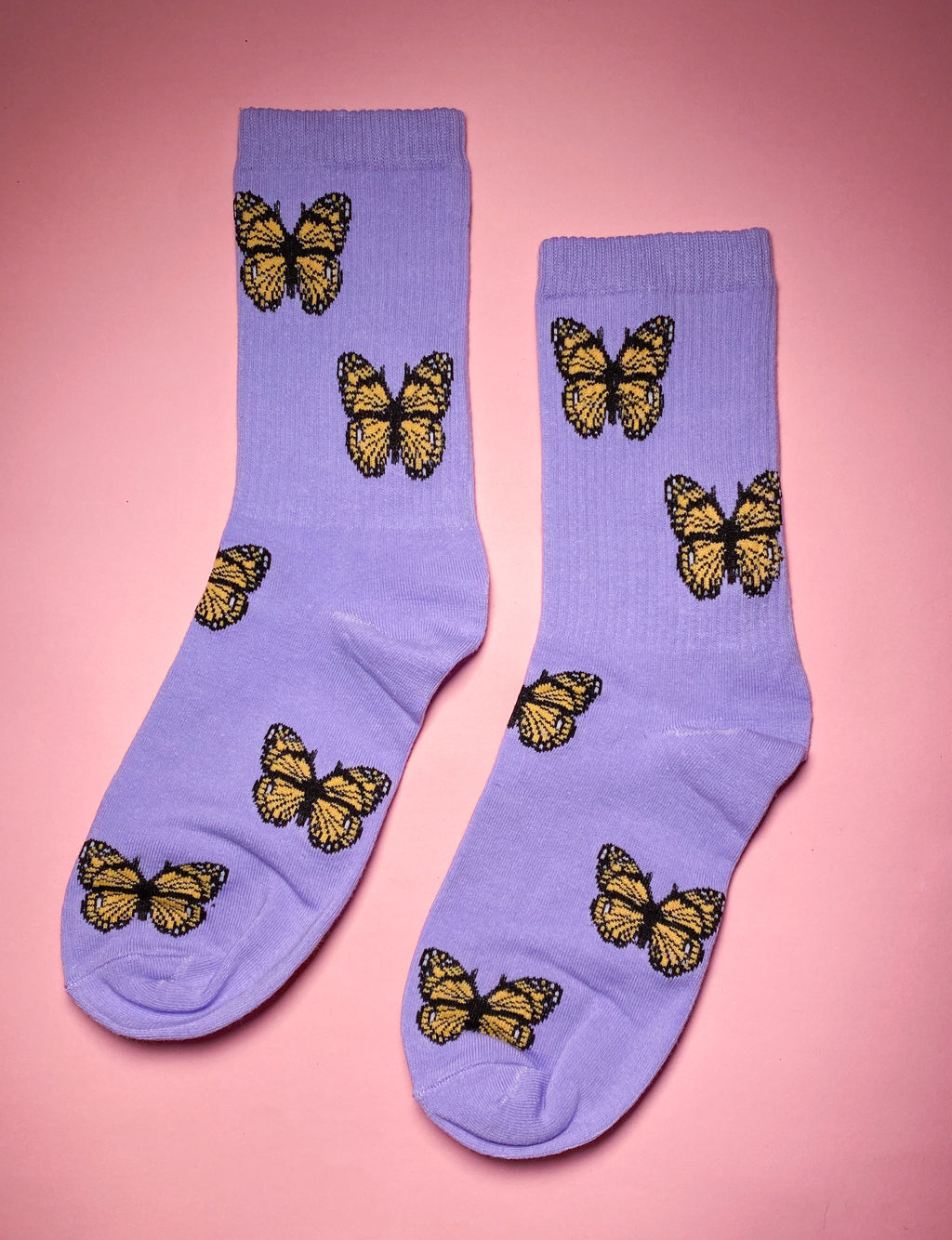 BLOSSOMING BUTTERFLY SOCKS - PURPLE