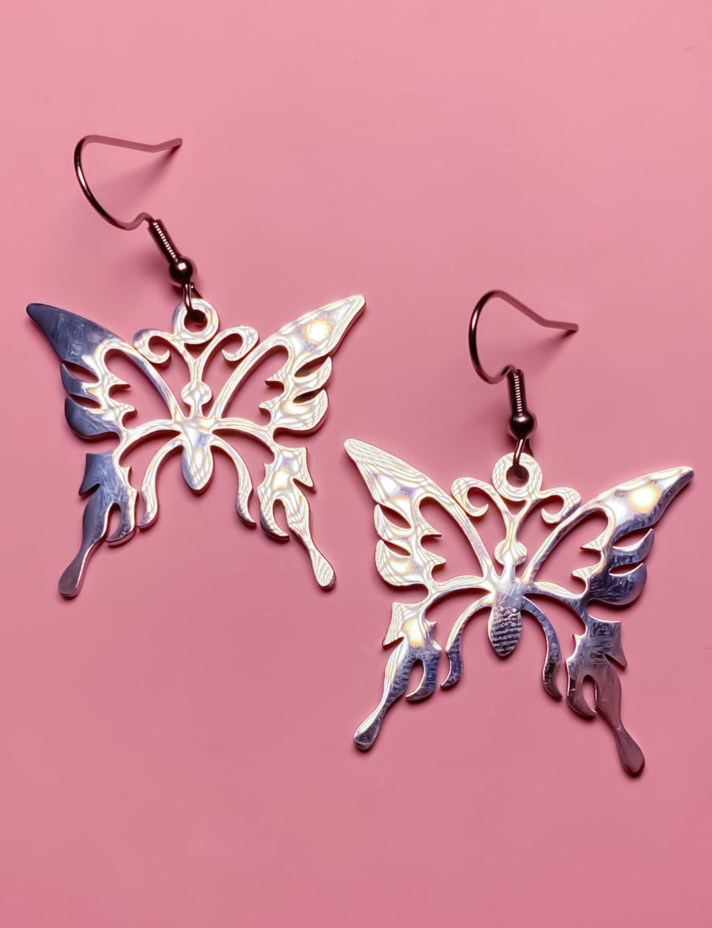 BUTTERFLY PENDANT EARRINGS