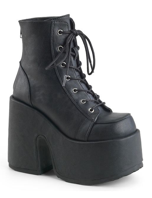 CAMEL 203 PLATFORM BOOTS - BLACK VEGAN LEATHER