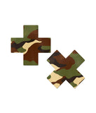 CROSS NIPPLE PASTIES - GREEN CAMO