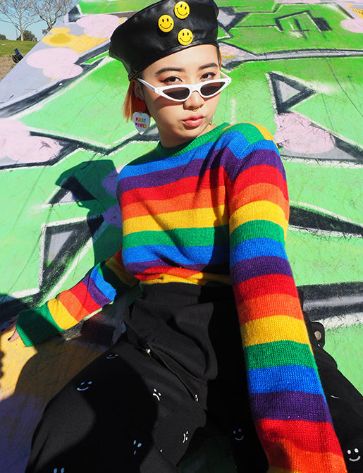 GLITTER RAINBOW JUMPER