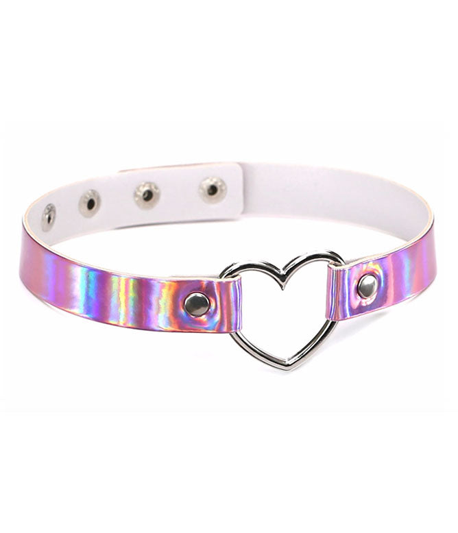 BURNING HEART CHOKER - PINK HOLOGRAM