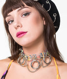 AFTER DARK CHAIN CHOKER - CLEAR HOLOGRAM