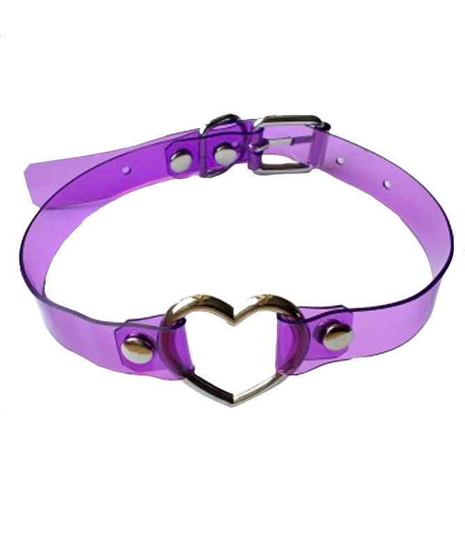 SEE THROUGH ME PURPLE CHOKER