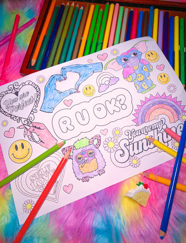 R U OK COLOURING PAGE - *PHYSICAL SENT VIA POST*