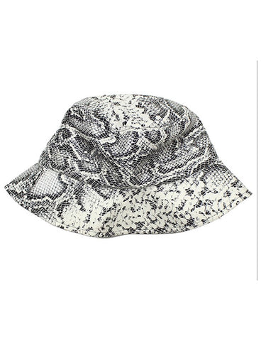 CONFIDENCE BUCKET HAT - SNAKESKIN