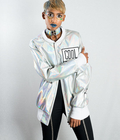 HOLOGRAM EXPLORER BOMBER JACKET