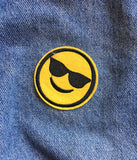 COOL GUY EMOJI IRON ON PATCH